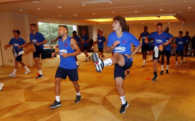 برشلونة يواصل المعسكر التدريبي في اليابان قبل مواجهة تشيلسي