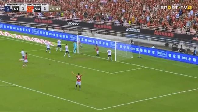 شاهد فيديو هدف مانشستر يونايتد الثاني في مرمي توتنهام