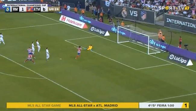 هدف اتلتيكو مدريد السابع في مرمي ريال مدريد