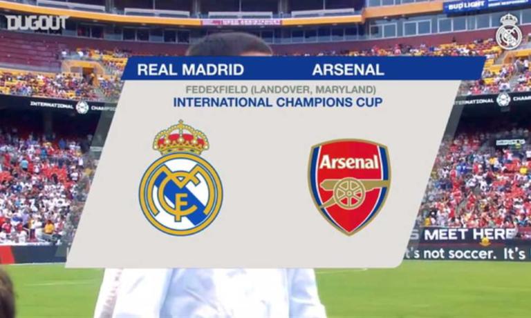أهداف أرسنال وريال مدريد الودية المثيرة (2-2)