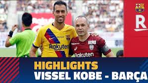 شاهد اهداف مباراة برشلونة وفيسيل كوبي الودية