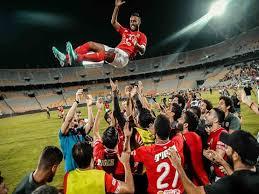 احتفال الاهلي المصري بالفوز على الزمالك