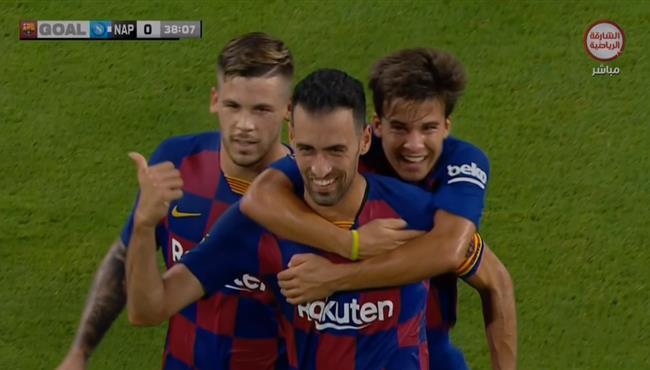 شاهد ملخص مباراة برشلونة ونابولي 2-1