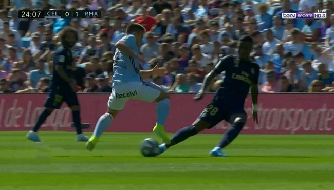 شاهد بالفيديو الشي الوحيد الذي فعلة سيلتا فيجو امام ريال مدريد