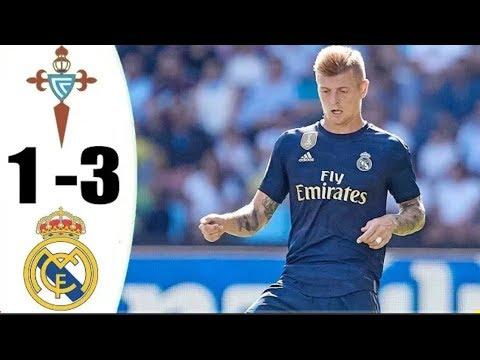 أهداف وملخص مباراة ريال مدريد وسيلتا فيغو (3-1)الدوري الاسباني