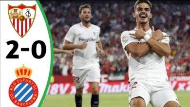 اهداف وملخص مباراة إسبانيول وإشبيلية
