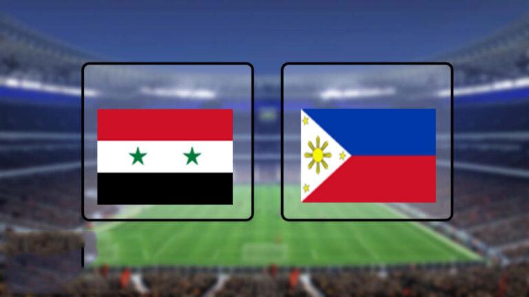 اهداف وملخص مباراة سوريا والفلبين تصفيات آسيا المؤهلة لكأس العالم 2022