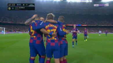 اهداف وملخص مباراة برشلونة ضد فالنسيا