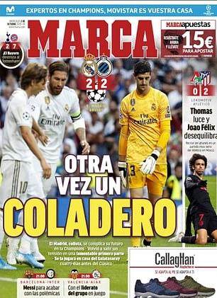 أجراس الإنذار تدق من أجل ريال مدريد