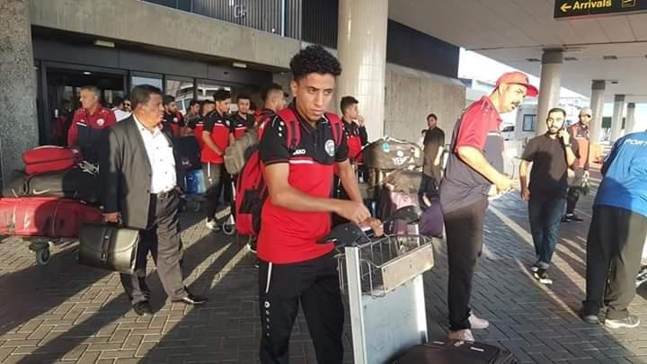 شاهد بالصور بعثة المنتخب اليمني تغادر الرياض متجه الى اوزبكستان