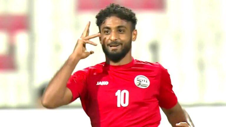 اللاعب اليمني محسن قراوي و بطولة كاس الخليج 24
