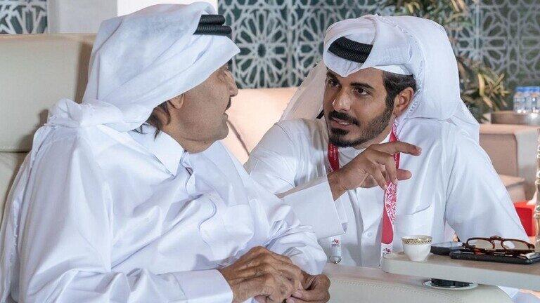 شقيق أمير قطر يتفاعل مع منتخب السعودية
