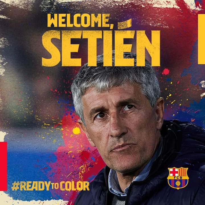 رسمياً تعيين كيكي سيتين مدرباً لفريق برشلونة بعد اقالة فالفيردي