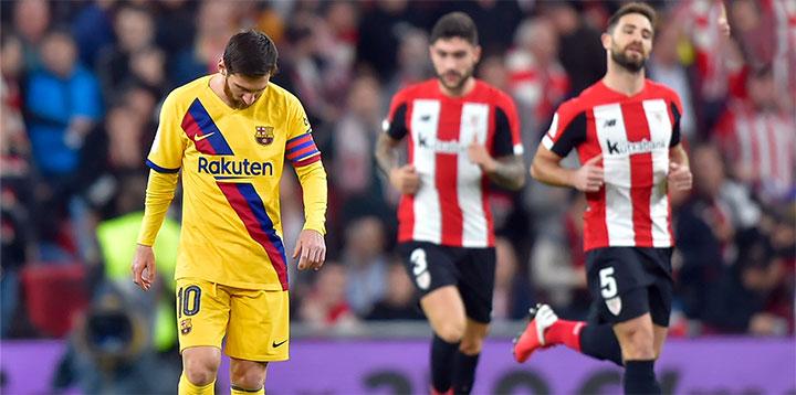 اتلتيك بيلباو يتاهل الى نصف نهائي كأس ملك إسبانيا بعد الفوز على برشلونة