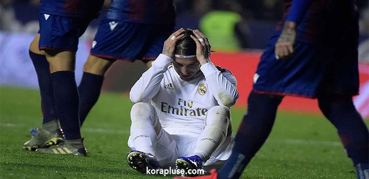 ليفانتي يهزم ريال مدريد ويهدي برشلونة صدارة الدوري الاسباني