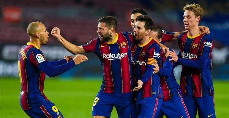 برشلونة يتجاوز ريال سوسيداد بهدفين نظيفين في اياب الدوري الاسباني