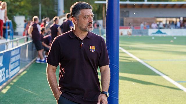 من هو جارسيا بيمينتا الذي سيقود فريق برشلونة خلفاً للمدرب كيكي سيتين
