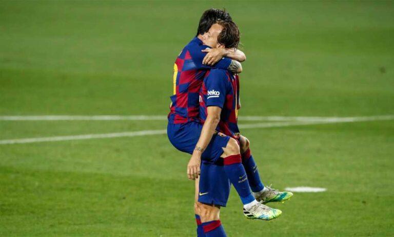 راكيتيتش ينقذ برشلونة أمام بلباو ويصالح ليونيل ميسي