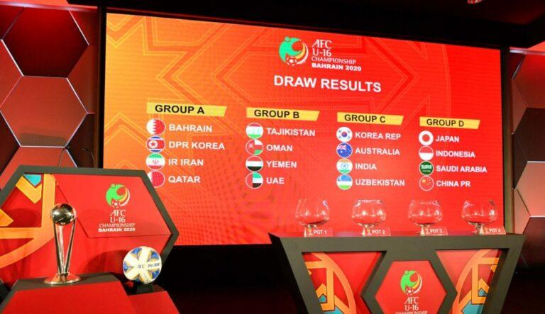 الإمارات تواجه طاجيكستان ومواجهات عربية في كأس آسيا للناشئين 2020