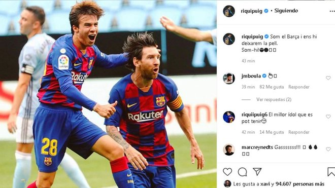 وعد ريكارد بويج لاعب برشلونة الشاب للجماهير على انستغرام قبل مباراة أتلتيكو مدريد