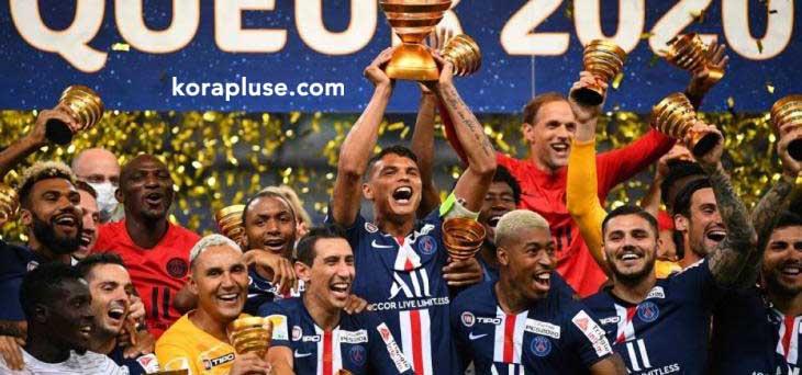 باريس سان جيرمان بطل كاس الرابطة الفرنسية بعد الفوز على ليون