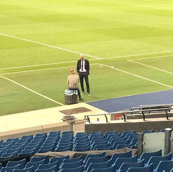 جوارديولا يكشف الحوار الذي دار مع زيدان عقب مباراة الريال والسيتي