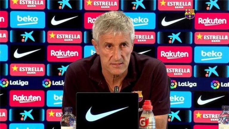 سيتين يعلن عن تشكيلة برشلونة الرسمية امام نادي نابولي