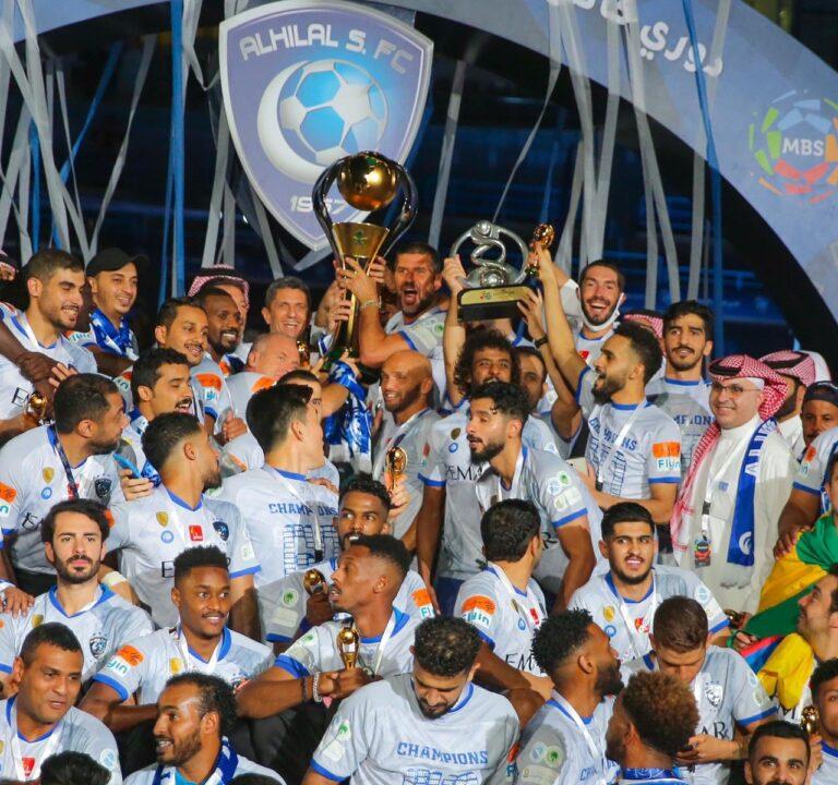 تتويج الهلال بلقب الدوري السعودي الممتاز 2020 ورقم قياسي جديد