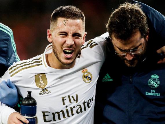 ريال مدريد يحدد إصابة هازارد وامكانية غيابة عن الكلاسيكو