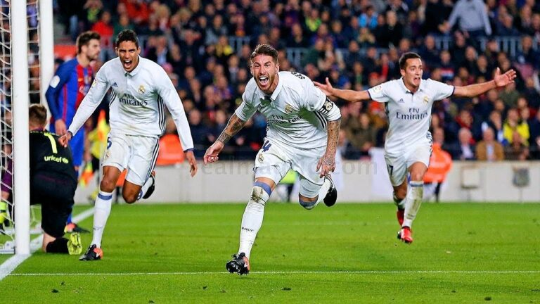 راموس يقود ريال مدريد لسحق برشلونة في الكلاسيكو
