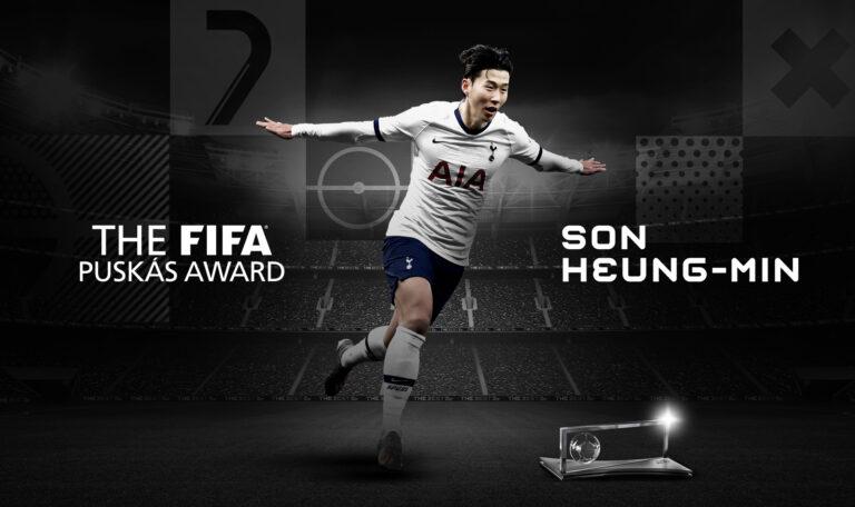 اللاعب الكوري سون يفوز بجائزة بوشكاش 2020