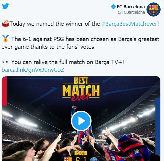 مباراة مجنونة لبرشلونة
