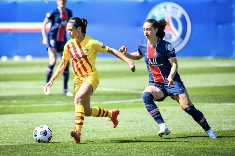 سيدات برشلونة تتعادل امام سيدات باريس سان جيرمان في نصف نهائي دوري ابطال اوروبا