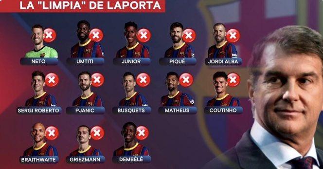 لابورتا يوكد أن هناك تغييرات كبيرة في برشلونة خلال الايام القادمة