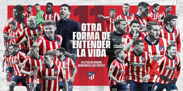 موعد تسليم اتلتيكو مدريد لقب بطولة الدوري الاسباني 2021