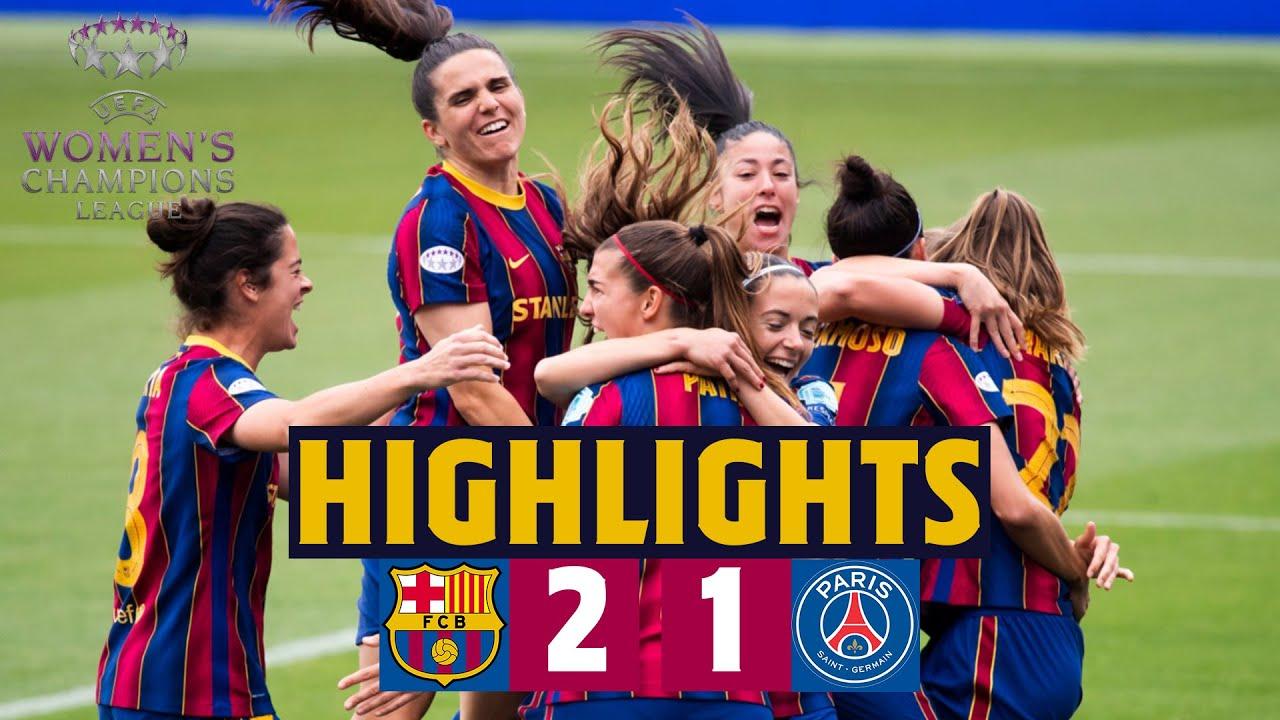 شاهد تاهل سيدات برشلونة الى نهائي دوري ابطال اوروبا بعد الفوز على سيدات باريس سان جيرمان