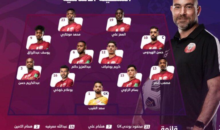 تشكيلة منتخب قطر في مباراة اليوم ضد النهند