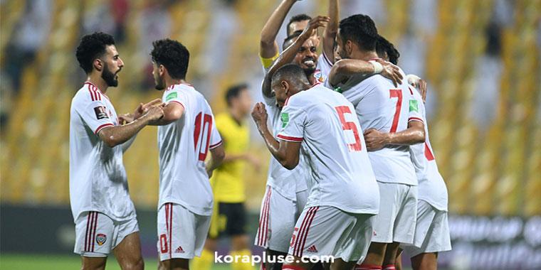 منتخب الامارات يسحق ماليزيا ويصعد الى المركز الثاني في تصفيات اسيا 2021