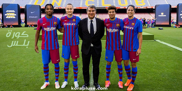 بالصور سيدات برشلونة يقدمن قميص برشلونة الجديد للعام 2022