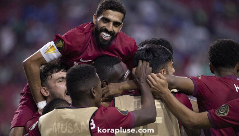 منتخب قطر في نصف نهائي الكاس الذهبية بعد فوزه على السلفادور