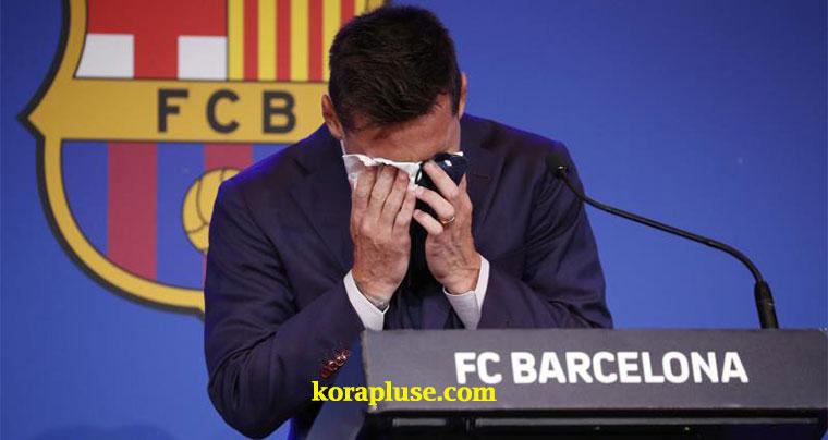 أهم ما قال ميسي في المؤتمر الصحفي الخاص بتوديع جماهير برشلونة