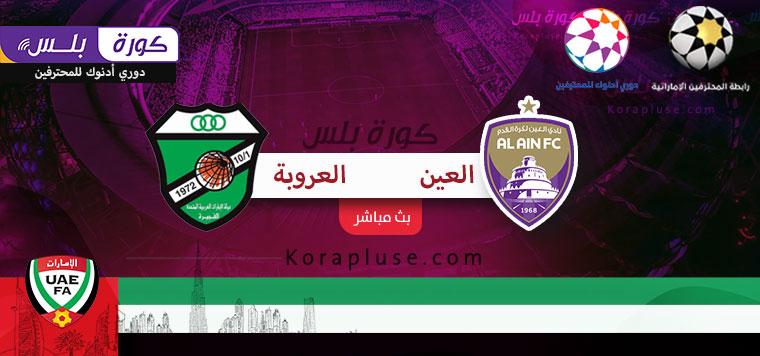 مباراة العين والعروبة بث مباشر دوري ادنوك للمحترفين الاماراتي